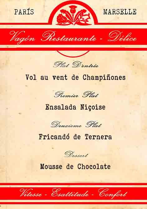 MENU FRANCÉS LA COCINA TALLER - Francés Tradicional
